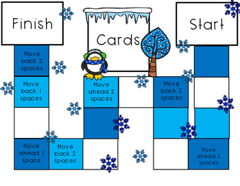 Identify Fractions on a Number Line File Folder Board Game- Winter Theme