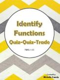 Identify Functions (TEKS 8.5G) Quiz-Quiz-Trade