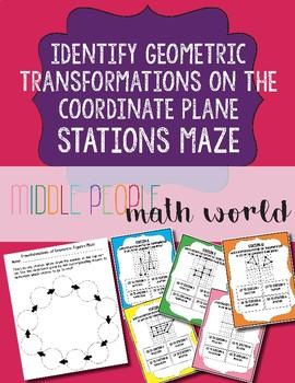 Identify Geometric Transformations on the Coordinate Plane Stations Maze
