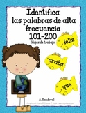 Identify High Frequency Words 101-200 in Spanish