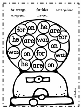 Identify High Frequency Words English 1-100