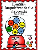 Identify High Frequency Words in Spanish palabras del uso frecuente
