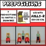 Identify & Label Prepositions Autism ABA ABLLS-R C51 G35 G36