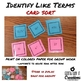 Color by Number & Card Sort Identify Like Terms Bundle Coloring Worksheet