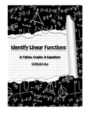 Identify Linear Function  (CCSS 8.F.A.3)