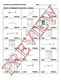 Identify Linear and Nonlinear Functions - Worksheet