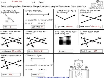 Identify Lines, Angles, Triangles, Quadrilaterals and Symmetry Task Card Bundle