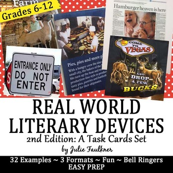 Literary Terms from Real World Examples, Bell Ringers, Tas