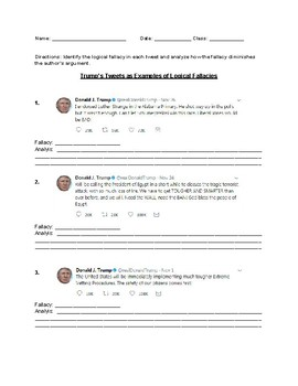 Identify Logical Fallacies Using Trumps Tweets