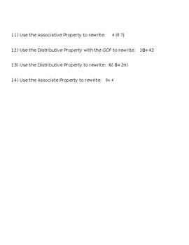 Identify Math Property Practice