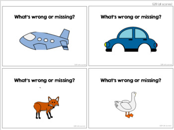 Identify Missing Feature or Problem Task Cards [ABLLS-R Aligned G28, G30]