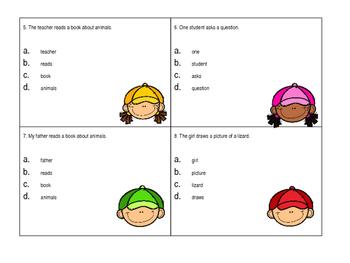 Identify Noun Task Card