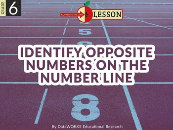 Identify Opposite Numbers on the Number Line