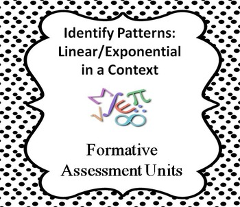 Identify Patterns: Linear and Exponential in a Context