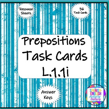 Prepositions in Complete Sentences Task Cards