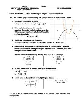Identify Quadratic from x-intercepts