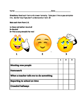 Identify School Based Stressors
