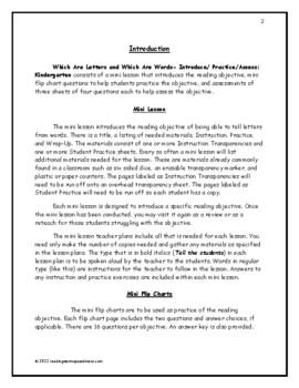 Identify Sentences and Words: Introduce/Practice/Assess - Kindergarten