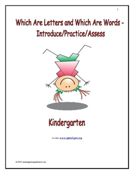 Identify Sentences and Words: Introduce/Practice/Assess - Kindergarten