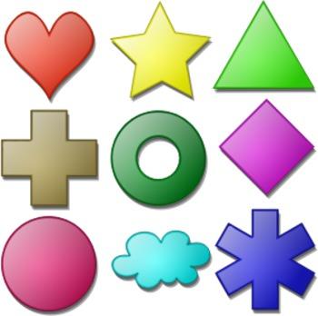 Kindergarten -- Identify Shapes - Crossword
