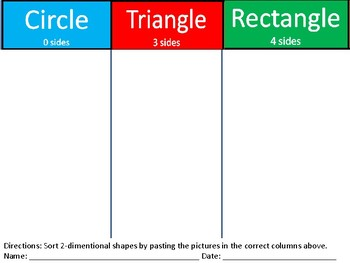 Identify Shapes/ Sort Shapes