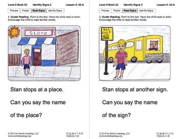 Identify Signs 2: Lesson 5, Book 22 (Newitt Nonfiction Series)