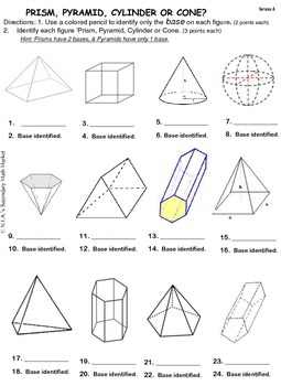 Identify Solid Figures Practice