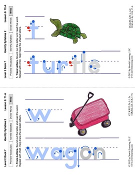 Identify Syllables 2: Lesson 6, Book 7 (Newitt Prereading Series)