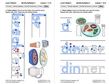 Identify Syllables 3: Lesson 1, Book 9 (Newitt Decoding Series)