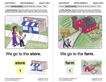 Identify Syllables 3: Lesson 3, Book 9 (Newitt Decoding Series)