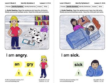 Identify Syllables 3: Lesson 4, Book 9 (Newitt Decoding Series)