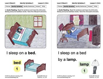 Identify Syllables 3: Lesson 5, Book 9 (Newitt Decoding Series)