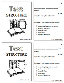 Identify Text Structure