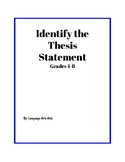 Identify The Thesis Statement Worksheet