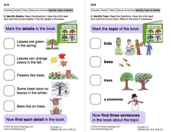 Identify Topic and Details 1: Lesson 2, Book 18 (Newitt Nonfiction Series)