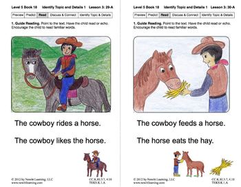 Identify Topic and Details 1: Lesson 3, Book 18 (Newitt Nonfiction Series)