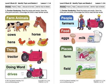 Identify Topic and Details 2: Lesson 1, Book 22 (Newitt Nonfiction Series)