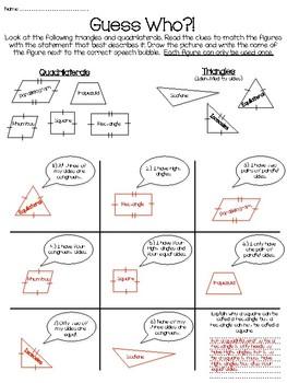 Identify Triangles and Quadrilaterals