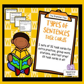 Identify Types of Sentences - ELA Task Cards
