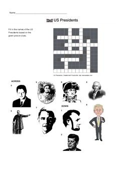Identify US Presidents by Picture - Crossword