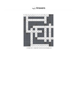 Identify US States by Picture (Part 2) - Crossword