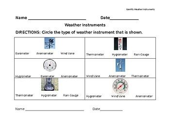 Identify Weather Instruments