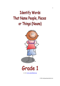 Identify Words That Name People, Places or Things (Nouns)