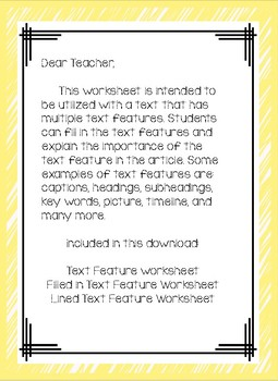 Identify and Explain Text Features