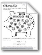 Identify and Know the Value of Coins (My Piggy Bank)