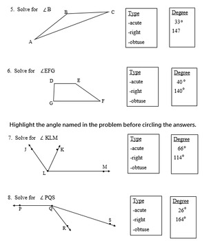 Measure Angles Using a Protractor in a PDF file