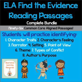Identify and Show Evidence Reading Passages - ELA COMPLETE BUNDLE