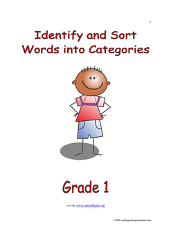 Identify and Sort Words into Categories: Introduce/Practic