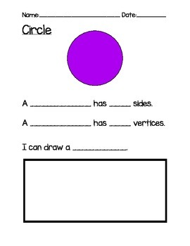 Identify and describe 2-dimensional shapes supplemental worksheets