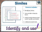 Identify and use similes (differentiated, with answers)
